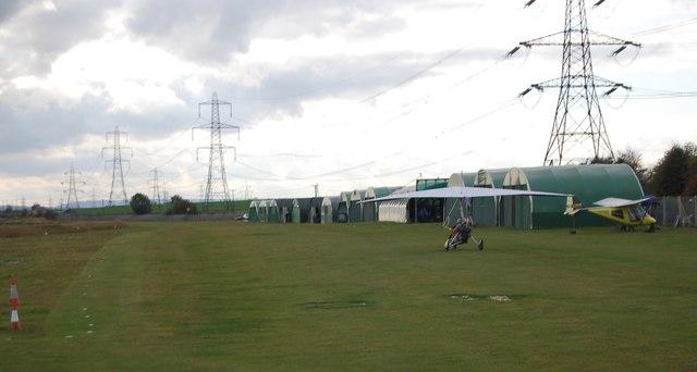 Landing at Stoke Airfield