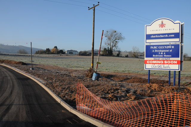 New road and development site