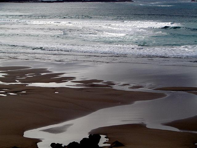 Gwynver beach by Tregiffian Vean Cliff