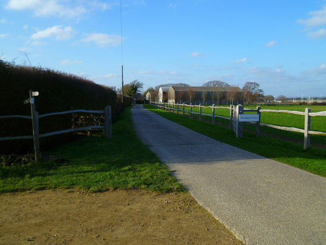The road to Westlands Farm