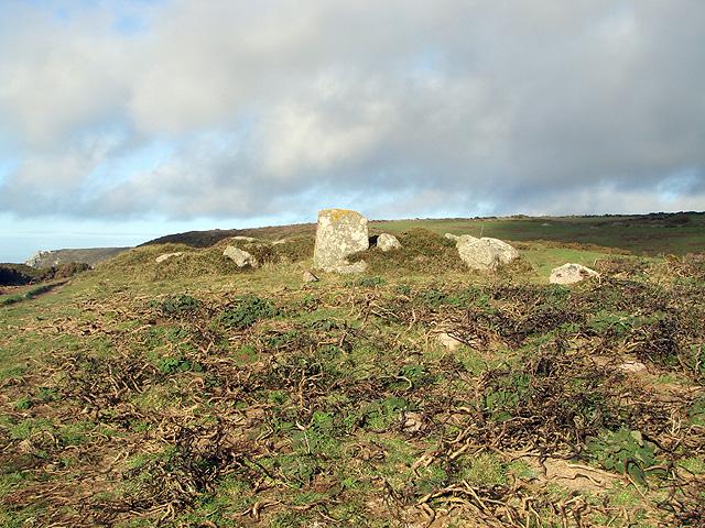 Ancient cairn at Boscregan
