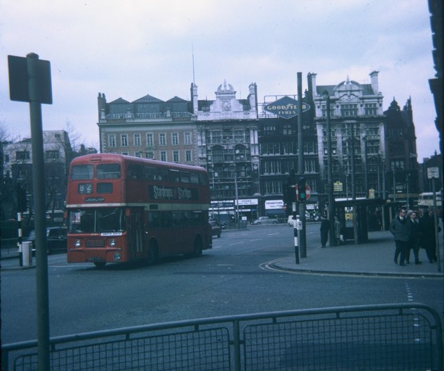 A bus in Portland Street, Manchester