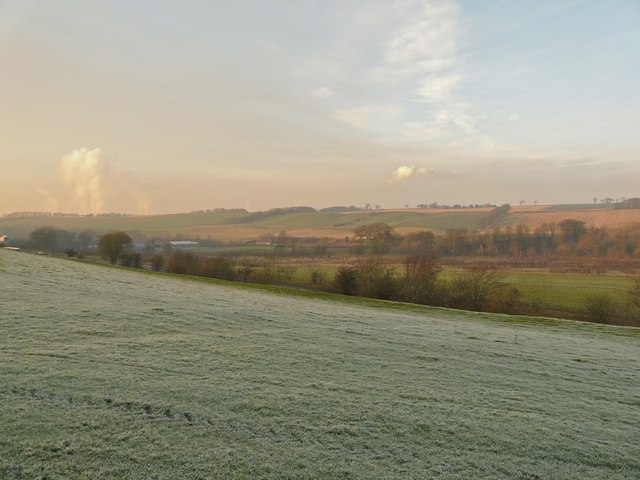 Frosty field, Linlithgow Bridge