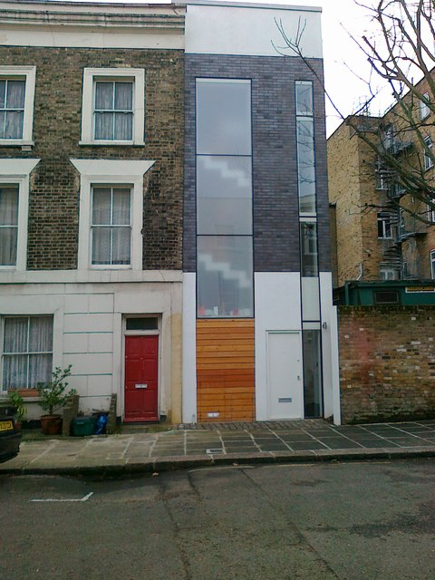 New house, St Martin's Close, Camden Town