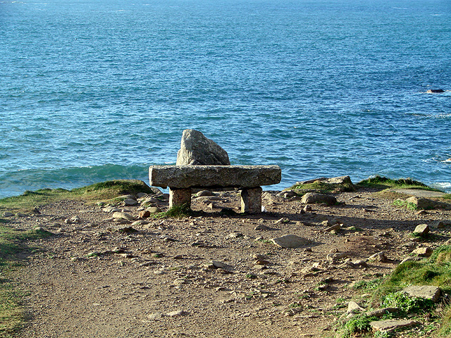 Stone seat at Porth Nanven