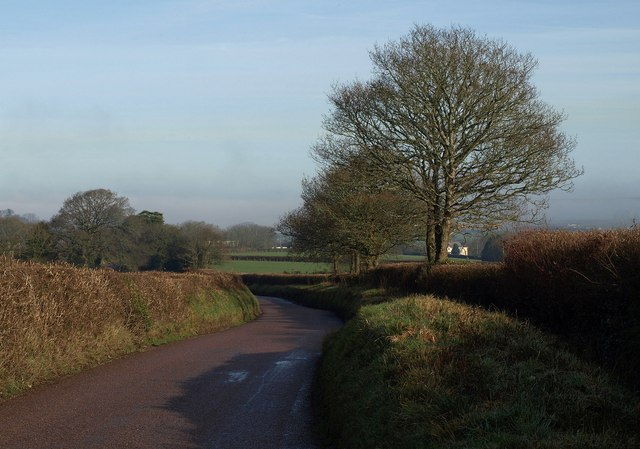 Road to Sampford Courtenay