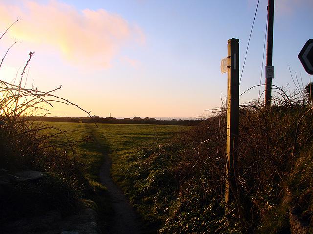 Footpath to Bollowal Farm