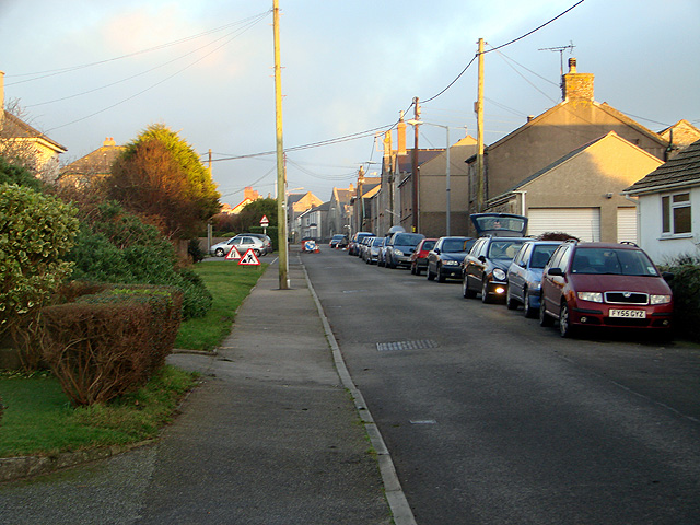 Entering St. Just along Cape Cornwall Road
