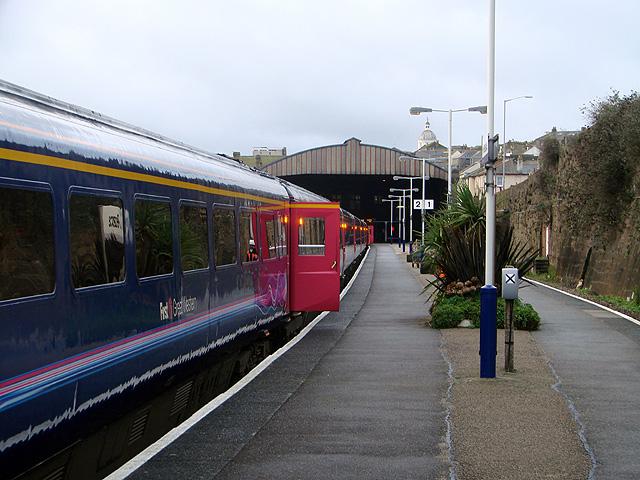 Platform 2 at Penzance Railway Station
