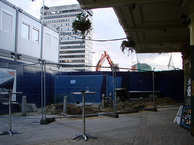 Reconstruction work at Reading Station