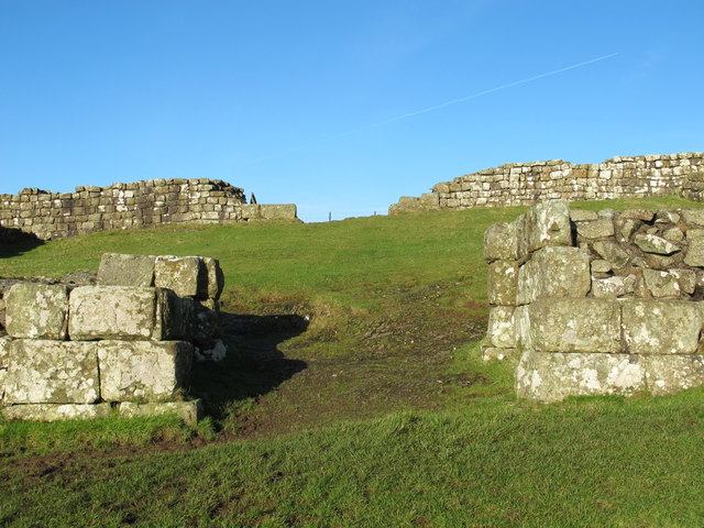 The southern gateway of Milecastle 42