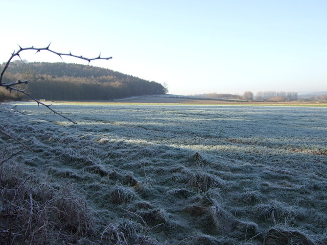 Frosted farmland, Low Weardley