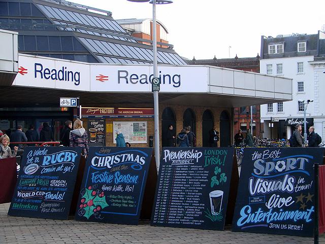 Reading station entrance