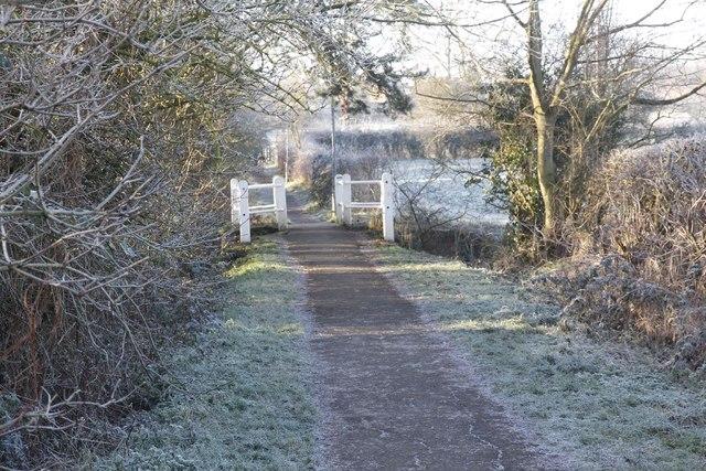 Footbridge along the lane