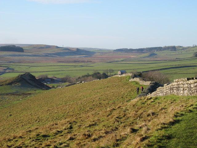 Hadrian's Wall west of Thorny Doors