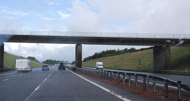 Bridge over the A74(M) near Blackford