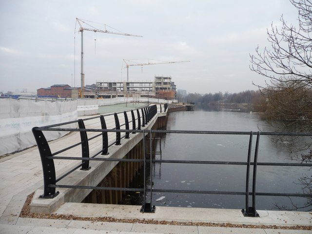 The basin of the former Leeds oil terminal