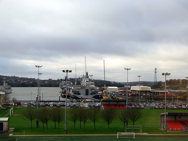 HMS Ocean at Devonport