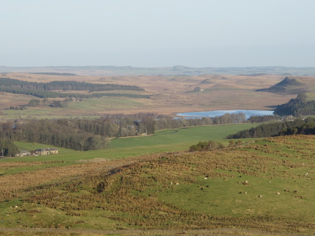 Countryside around Greenlee Lough