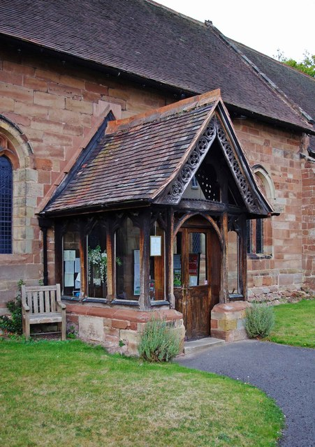 St. Cuthbert's Church (3) - porch, Rectory Road, Donington