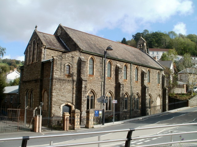 South side of St Mark's church, Llanhilleth
