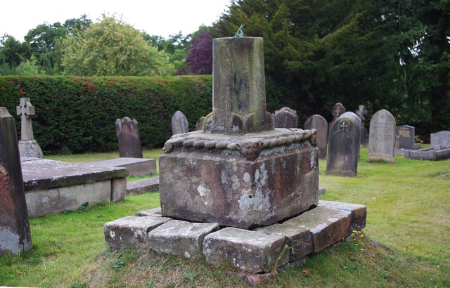 St. Cuthbert's Church (5) - remains of old cross, Rectory Road, Donington