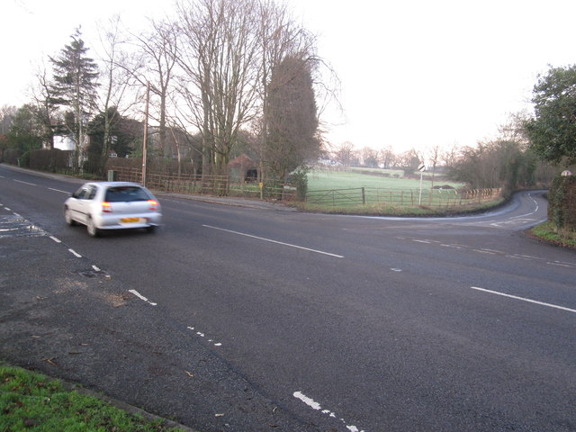 Knutsford Road/Moss lane junction Mobberley