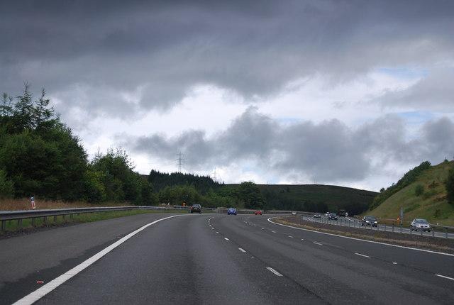 A74(M), northbound