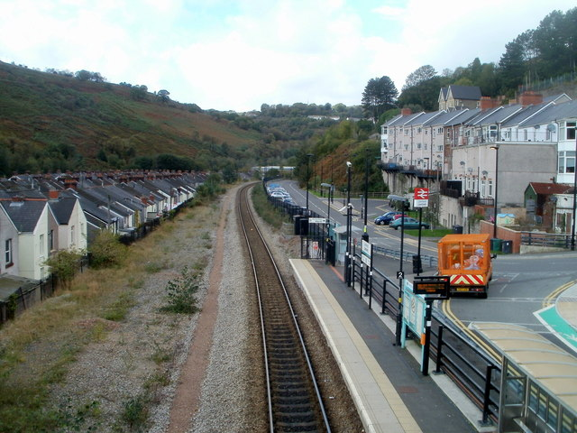 A view west from a railway footbridge, Llanhilleth