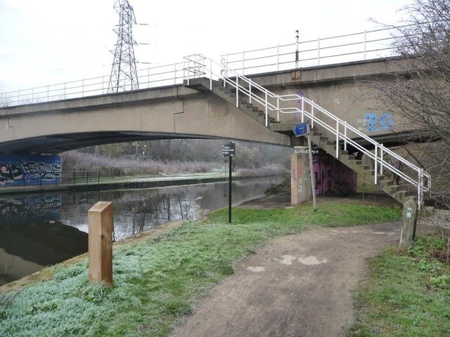 The Trans Pennine Trail crossing the Aire & Calder