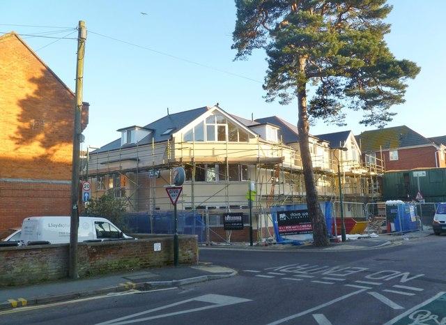 Boscombe, building site