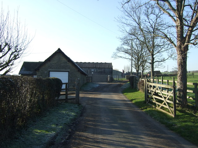 Track to Moor End Farm (footpath)
