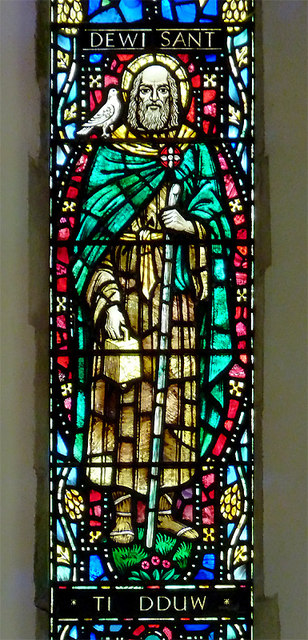St David's Church window (detail), Llanddewi-Brefi, Ceredigion