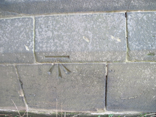 Ordnance Survey Cut Mark on St Bartholomews Church, Armley