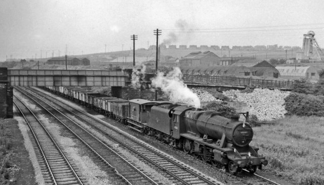 Up coal train on the ex-North Midland 'Old Line' near Beighton Junction