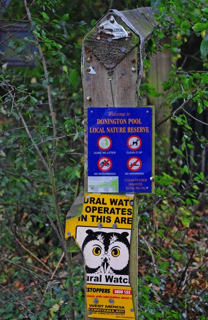 Notices by Donington Pool, Donington