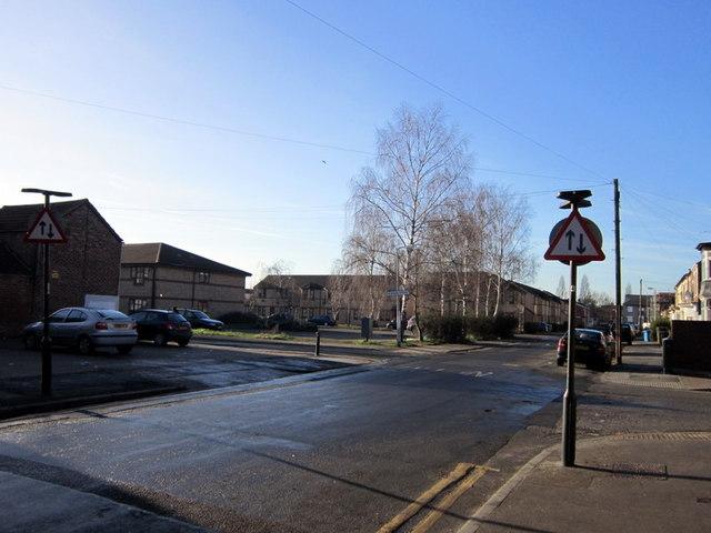Margaret Street towards Hudson Street, Hull