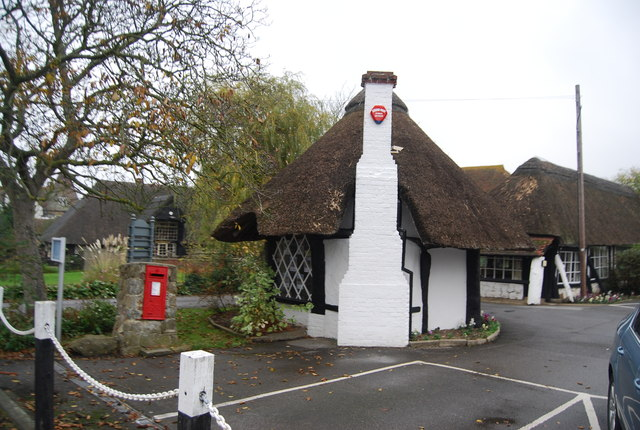 Small thatched building, Chestfield Golf Club