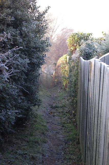 Path Ashley Lane to Ivyside Gardens