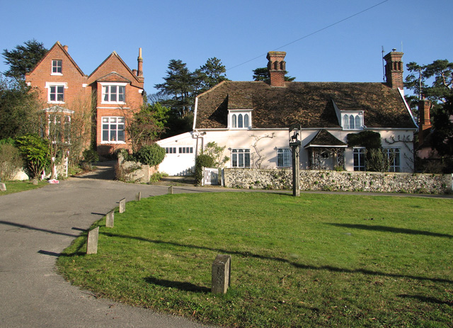 Cottages by the village green, Easton