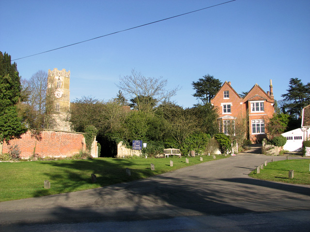 Cottages and All Saints church, Easton