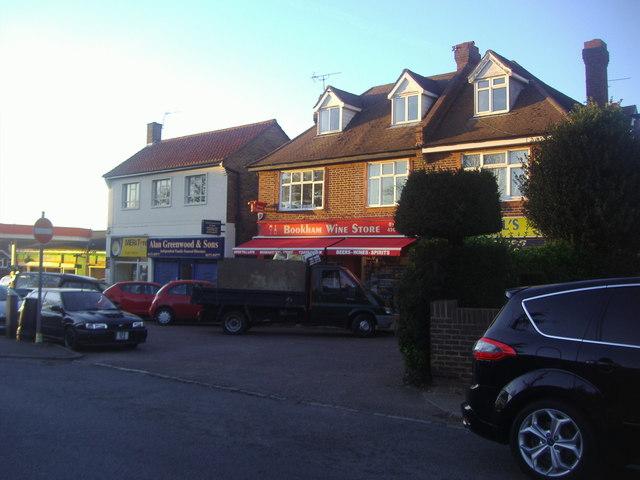 Shops on Leatherhead Road, Bookham
