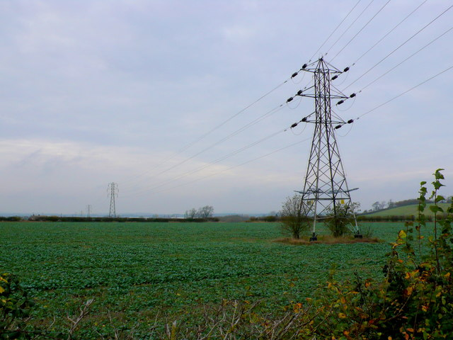 Fields near Tump Bew Hill