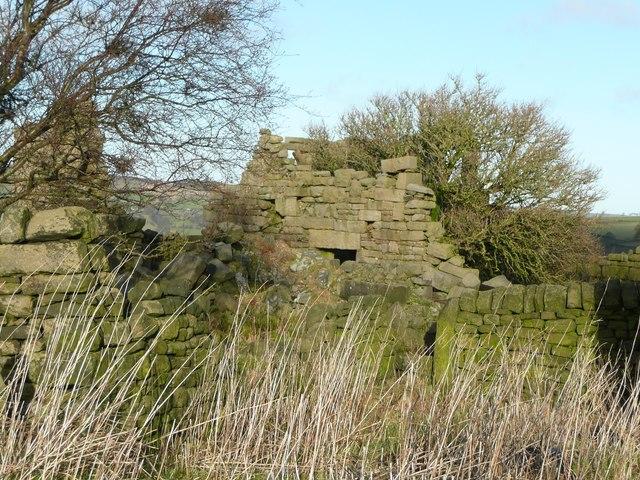 Ruined farmhouse, Deacon Hill