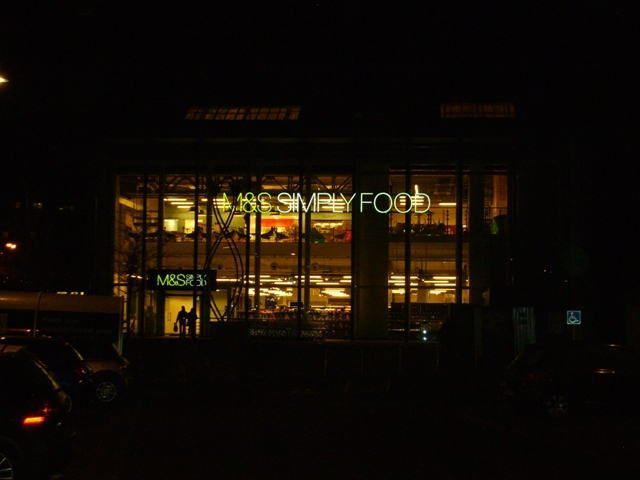 M & S at night
