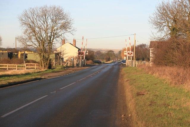 Elsham crossing on the B1206