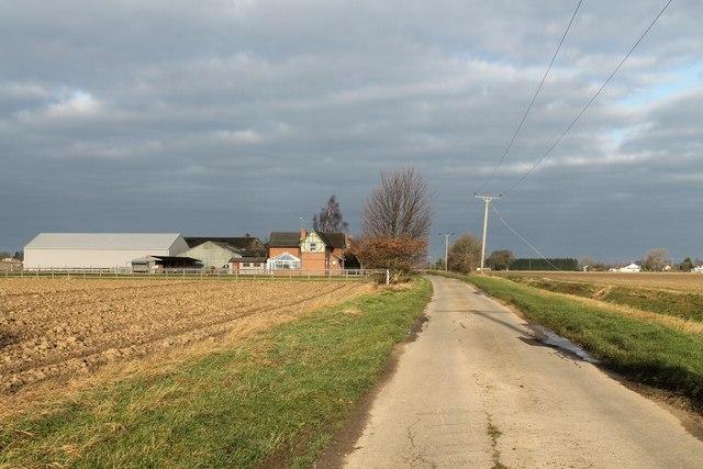Lane past Blackjack Farm