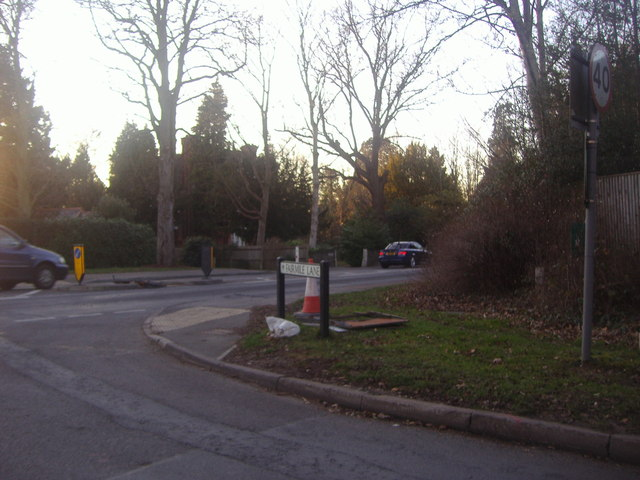 Junction of Fairmile Lane and Stoke Road