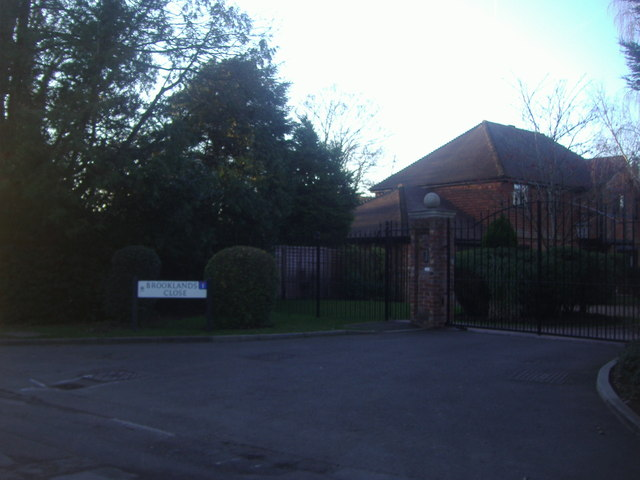 Entrance to Brooklands Close, Stoke D'Abernon