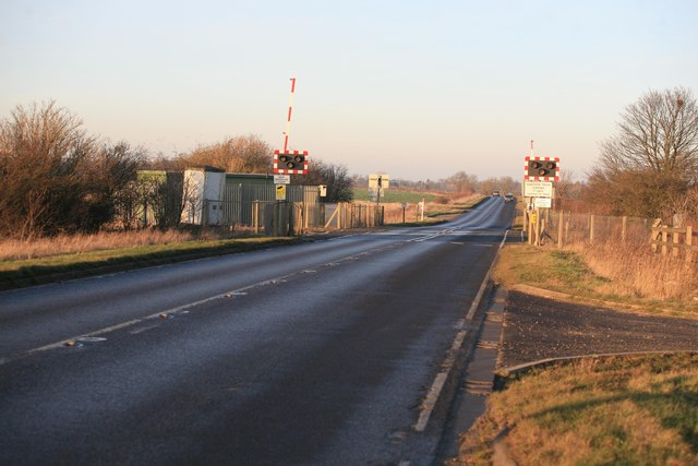 Scawby crossing on the B1206